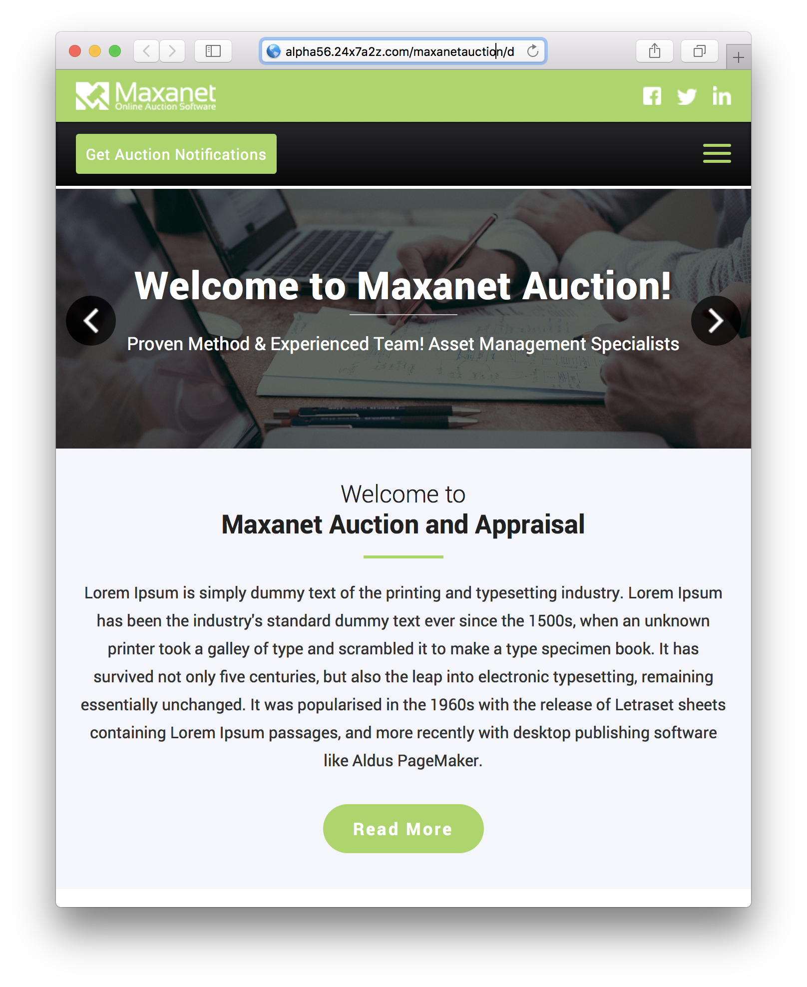 Maxanet Next Online Auction Software Maxanet