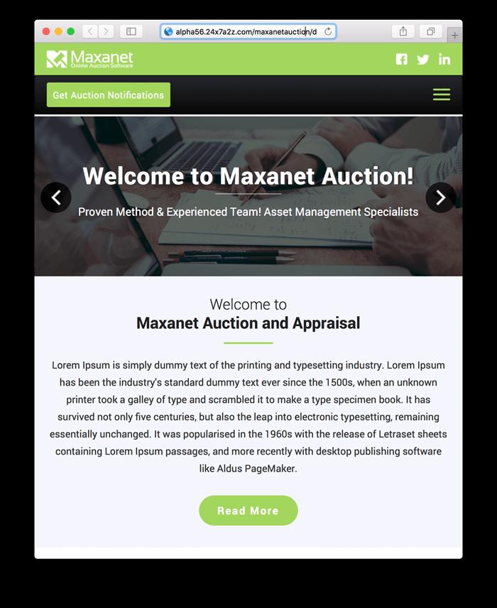 Maxanet Next Wordpress Template 1