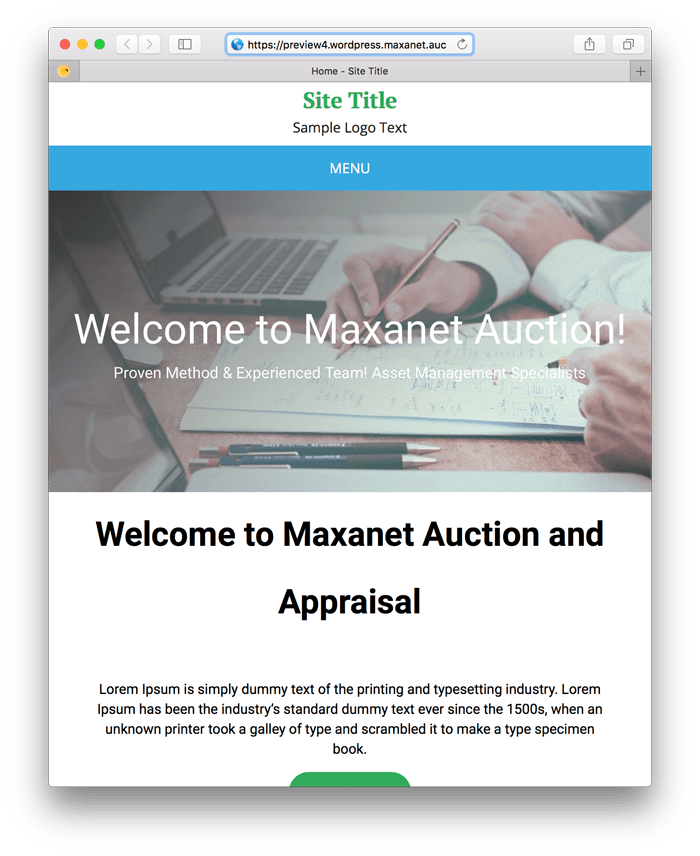 MaxanetNEXT WordPress Template 4