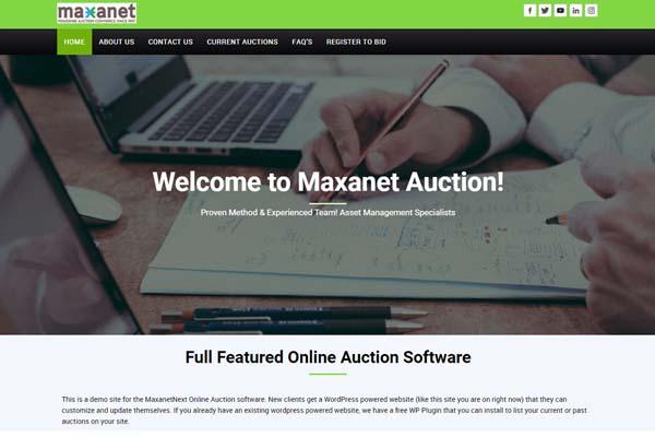 Maxanet website template 1